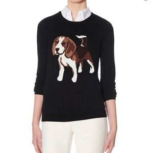 The Limited Black Crew Neck Beagle Dog Sweater M